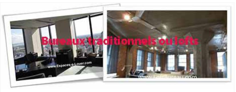 Lofts and traditionnal office space for lease in Montreal